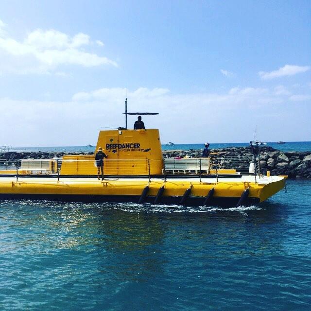 プチサブマリン。.潜水艦を発見!いや、ちょっと雰囲気が違う!?(笑).日本で言う所のグラスボート的な感じ?(^-^)。海中側がガラス張りになっていて、海の中が覗けて、景観や魚達が見られるアレですね〜(人 •͈ᴗ•͈).あ、私は乗っていないです…(/ω\)。この撮影の後にホエールウォッチングに行ってしまったのでした〜(^^;#春休み2019 #lahaina #maui #reefdancer